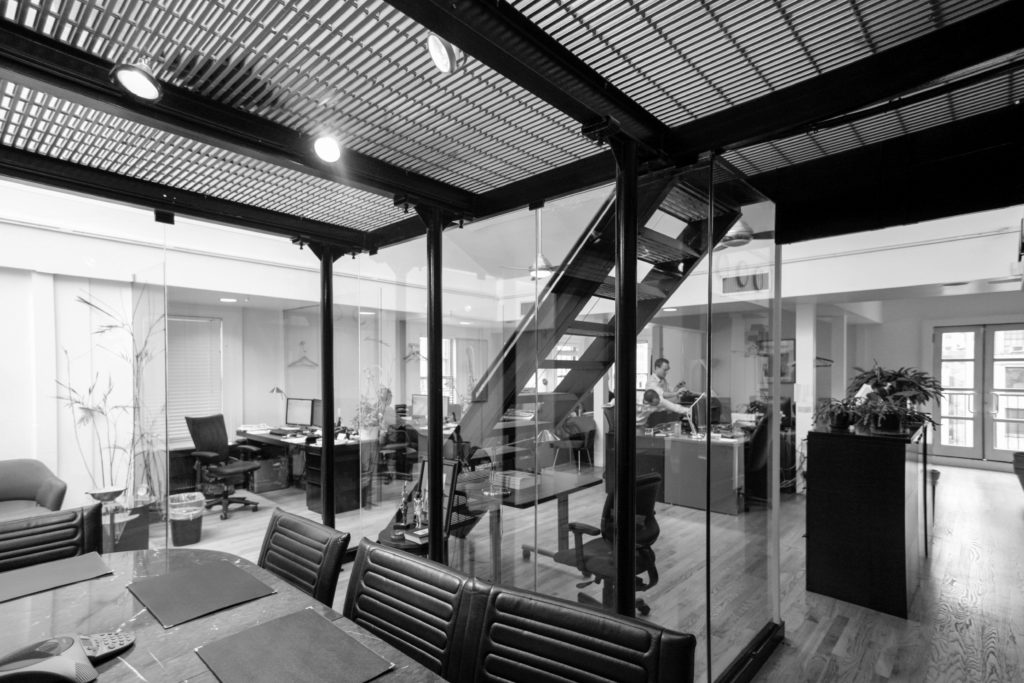 mezzanine office space. Installation Of A Multi-purpose Mezzanine To House Conference Space With An Executive Office On Top, Strategically Re-using Sidewalk Bridge- And